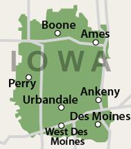 Our Iowa Service Area